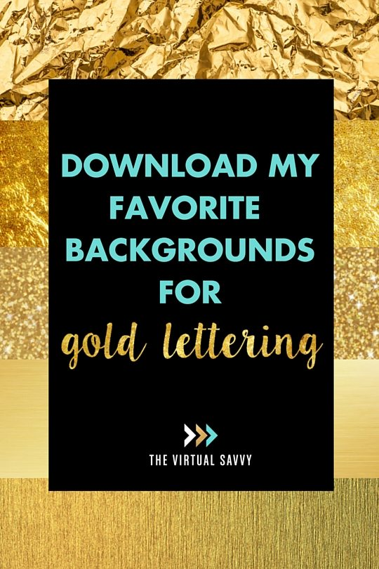 How to Create Gold Lettering | DIY Graphics