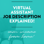 Virtual Assistant Job Description Explained